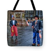 City Jugglers Tote Bag by Ron Shoshani