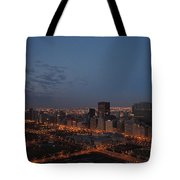 City Lights At Dawn Tote Bag