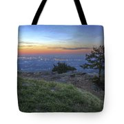 City Lights From Sunrise Point At Mt. Nebo - Arkansas Tote Bag