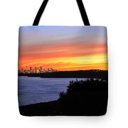 City Lights In The Sunset Tote Bag