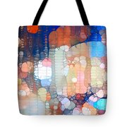 City Lights Urban Abstract Tote Bag