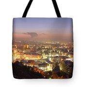 City Lit Up At Night, Esslingen Tote Bag