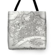 City Map Or Plan Of Frankfort Germany Tote Bag