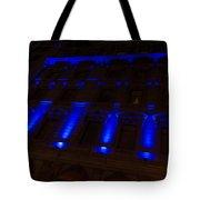 City Night Walks - Blue Highlights Facade Tote Bag