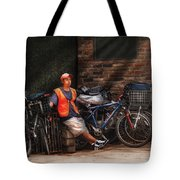 City - Ny - Waiting For The Next Delivery Tote Bag