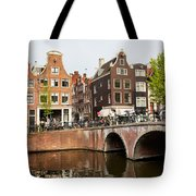 City Of Amsterdam In Holland Tote Bag