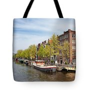 City Of Amsterdam In The Netherlands Tote Bag