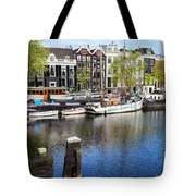 City Of Amsterdam River View Tote Bag