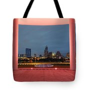 City Of Austin Framed Tote Bag