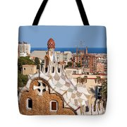 City Of Barcelona From Park Guell Tote Bag