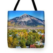 City Of Crested Butte Colorado Panorama   Tote Bag