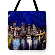 City Of Pittsburgh At The Point Tote Bag