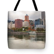 City Of Portland Oregon In The Fall Panorama Tote Bag