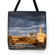 City Of Seville At Sunset Tote Bag