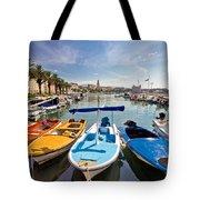 City Of Split Colorful Harbor View Tote Bag