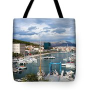 City Of Split Port In Croatia Tote Bag