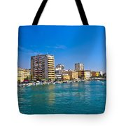 City Of Zadar Waterfront And Harbor Tote Bag