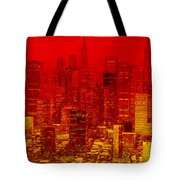 City On Fire Tote Bag