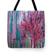 City Pear Tree Tote Bag