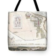City Plan Or Map Of Pompeii Tote Bag