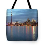 City Skyline At Dusk From Centre Tote Bag