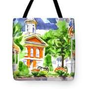 City Square In Watercolor Tote Bag
