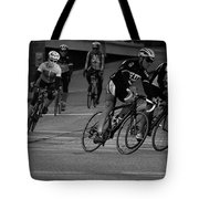 City Street Cycling Tote Bag