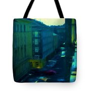 City Streets Digital Painting Tote Bag