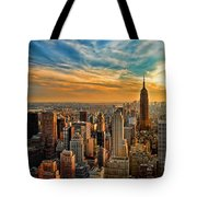 City Sunset New York City Usa Tote Bag by Sabine Jacobs