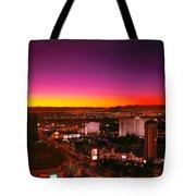 City - Vegas - Ny - Sunrise Over The City Tote Bag