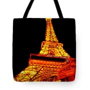 City - Vegas - Paris - Eiffel Tower Restaurant Tote Bag