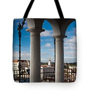 City Viewed Through From The Santa Tote Bag