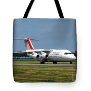 Cityjet British Aerospace Avro Rj85 Tote Bag