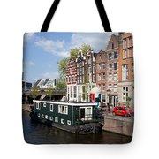 Cityscape Of Amsterdam Tote Bag