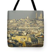 Cityscape Of Paris Paris, France Tote Bag by Ingrid Rasmussen