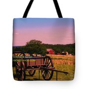 Civil War Caisson At Gettysburg Tote Bag