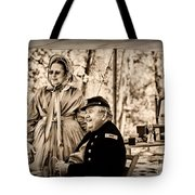 Civil War Officer And Wife Tote Bag