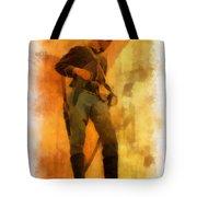Civil War Soldier Photo Art Tote Bag