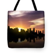 Calgary Sunset Skyline  Tote Bag
