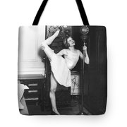 Clair Luce Exercising On Radio Tote Bag