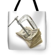 Clamp Putting Pressure On American Money Concept Tote Bag