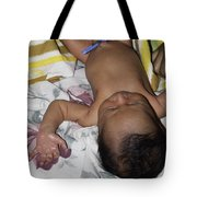 Clamp Tied To Umbilical Cord Of A 5 Day Old Indian Baby Boy Tote Bag