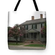 Clapboard House Colonial Williamsburg Tote Bag