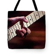 Clapton Playing Guitar - Watercolor Painting Tote Bag
