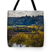 Clarksville Railroad Bridge Tote Bag