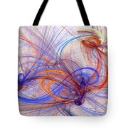 Clash Of Fire And Ice Tote Bag