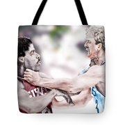 Clash Of The Titans 1984 - Bird And Doctor  J Tote Bag by Reggie Duffie