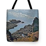 Clashing Tides At Tip Of Cape D'or-ns Tote Bag