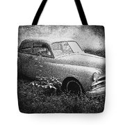 Clasic Car - Pen And Ink Effect Tote Bag