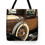 Classic 1928 Ford Model A Sport Coupe Convertible Automobile Car Tote Bag